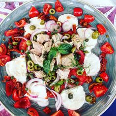 A fresh, tasty and colorful salad full of flavors from the Aeolian islands in Lipari!