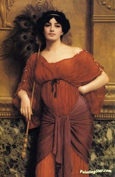A Roman Matron Artwork by John William Godward Hand-painted and Art Prints on canvas for sale,you can custom the size and frame