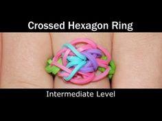 ▶ Rainbow Loom® Crossed Hexagon Ring - YouTube