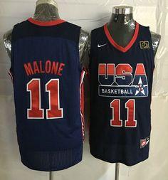 849d95943ef Team USA #11 Karl Malone Dark Blue 2012 USA Basketball Retro Stitched NBA  Jersey