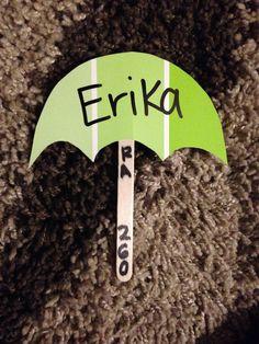 RA Umbrella Door Decs! #ra #doordecs #radoordecs #umbrella