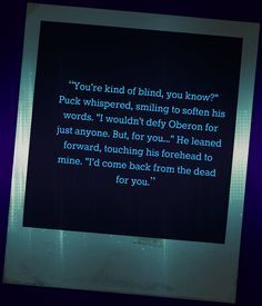 I want to love Puck so bad but Ash's quotes just have to be just as amazing!