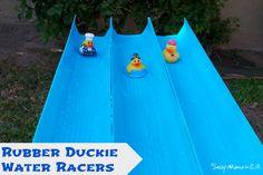 Outdoor Water Games: Rubber Duck Races #LowesCreator