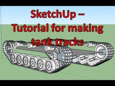SketchUp Tutorial - How to make tank tracks and suspension