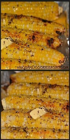 This oven roasted co This oven roasted corn is outrageous. This oven roasted co This oven roasted corn is outrageous. Top This oven roasted co This oven roasted corn is outrageous. Top it off with some butter salt and pepper and its just heavenly! I Love Food, Good Food, Yummy Food, Oven Roasted Corn, Corn Oven, Oven Baked Corn, Corn In The Oven, Oven Roasted Vegetables, Parmesan Roasted Potatoes