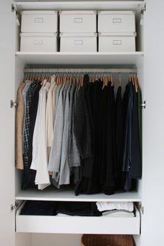 53 The Best Design An Organised Open Wardrobe # Wardrobe Storage, Walk In Wardrobe, Wardrobe Design, Closet Storage, Closet Organization, Small Wardrobe, Small Closets, Organizing Life, Box Storage
