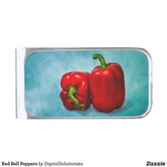 Red Bell Peppers Silver Finish Money Clip