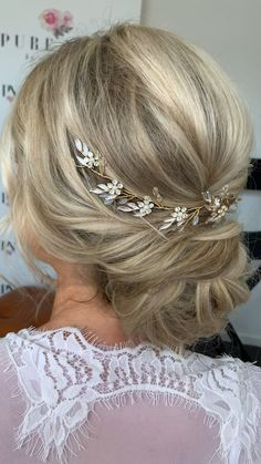 Soft romantic princess hair with a delicate hair vine called CHRISTINA from CC Collective. Wedding hair inspired.