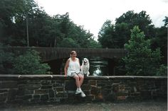 Spots & me @ Antietem Creek,, Summer, 2013