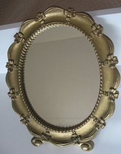 New to lingerawhile on Etsy: Mid Century Syroco Ornate Gold Mirror (34.00 USD)