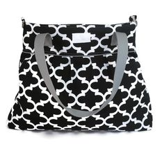 Black Fynn Large Diaper Bag - Nappy Bag - Stroller Bag - Diaper Bags - Baby Changing Bag - Tote Bag