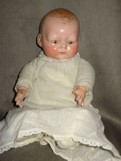 Antique 1924 E.I. Horsman Co. Inc. TYNIE BABY- Composition Doll- RARE! Tagged