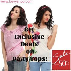 Enjoy exclusive discounts on party wear for women!