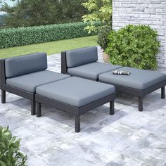 CorLiving 'Oakland' 4-piece Lounger Patio Furniture Set Buy