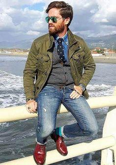 【男性】春のカーキパンツ コーデ集・2つの着こなしポイント!(メンズ) | Italy Web