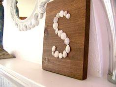 Sea Shell Sign I soooo love this idea!!!