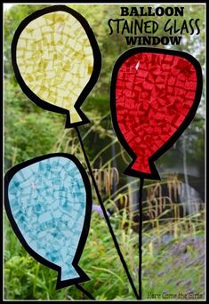 Balloon Stained Glass Window - Here Come the Girls
