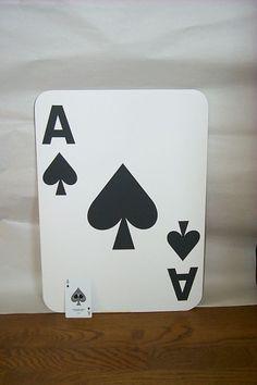 @Matt Sharie Christensen Large playing cards. Game room decoration.