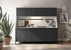 Standout German-designed minimalist kitchen, the SieMatic 29 is modeled after a traditional sideboard Kitchen Sideboard, Kitchen Furniture, Sideboard Ideas, Kitchen Cabinetry, Urban Kitchen, Kitchen Living, Mini Kitchen, Kitchen Unit, Kitchen Storage