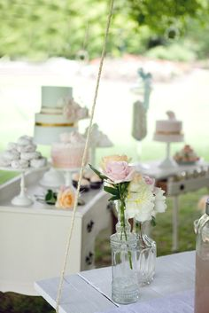 {Whimsical Feature} Vintage Baby Shower | Whimsically Detailed- they give some nice ideas for an outdoor whimsy