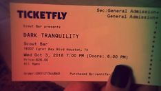 Tickets came in the mail!