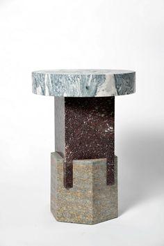 KAPITAL by Italian Studio Oeuffice - Stool come side table, marble stone Corinthian Order, Vases, Forma Circular, Interior Decorating, Interior Design, Decoration, Contemporary Design, Furniture Design, Sculpture