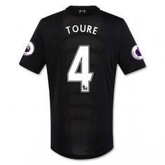 Liverpool 16-17 Kolo Toure 4 Bortatröja Kortärmad  #Fotbollströjor