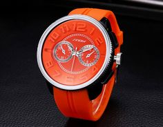 S9483G Silicone 53MM Large Case Stainless Steel Back Men's Fashion or - YH(Sinobi) International