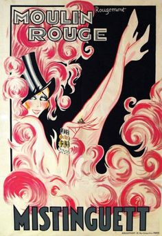 Poster for Moulin Rouge - Mistinguett / Rougemont