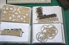 What a Scrappy Life: Cameo Love - keeping it together. Using a photo album to store digital die cuts for project life.