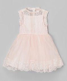 Love this Pink Lace-Overlay Sleeveless Dress - Toddler & Girls on #zulily! #zulilyfinds