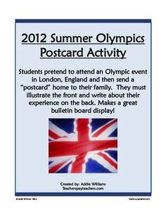 FREE Summer Olympics Writing Activity