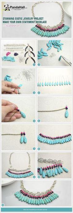 Jewelry Making Tutorial-DIY Stunning Exotic Statement Necklace | PandaHall Beads Jewelry Blog