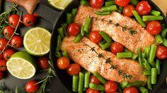 Green Bean Salad with Salmon