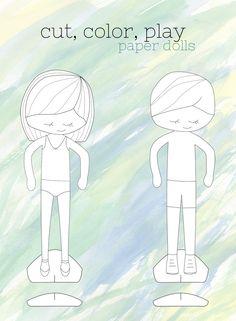FREE Dressup Dolls  Printable paper Dolls and Free printable