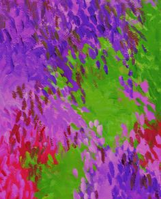 Purple abstract art Original abstract art Violet by garimadesigns