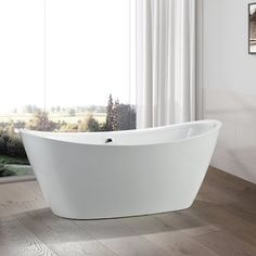 Relax and unwind in this luxurious Valence 71 in. The white finish complete the contemporary design of this soaking tub that would make a great addition to any bathroom. Bathroom Faucets, Small Bathroom, Master Bathroom, Bathroom Ideas, Master Tub, Relaxing Bathroom, Bathroom Designs, Bathroom Renovation Cost, Soaking Bathtubs