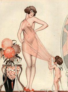 Illustration by Vald 'Es For La Vie Parisienne 1925