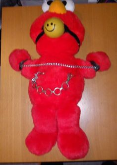 RARE BONDAGE Tickle Me Elmo CUSTOM 1997 MATTEL TYCO PLUSH FUNNY FETISH S&M