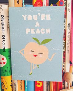 Have a peachy Monday!  love this card from @1973ltd illustrated by #peewees I got yesterday  #youreapeach #illustration