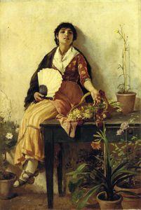 the florentine girl - (Frank Duveneck)