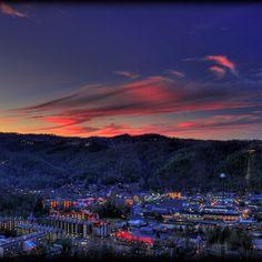 Sunset over Gatlinburg, Tennessee