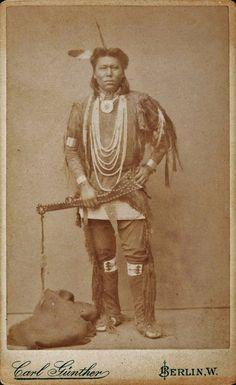 OSAGE MAN , circa 1870