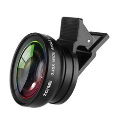ZOMEI Universal 0 45X Wide Angle Macro kit Camera Lens For iPhone. Click visit to buy #lenses #accessories