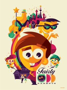 Nickelodeon-Creator-Series-Posters-Tom-Whalen-Fairly-Odd-Parents