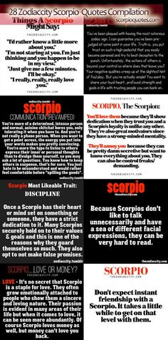 scorpioquotes.com 28 Zodiac City Scorpio Quotes Compilation #scorpio