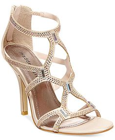 0913172a2ef2 Madden Girl Digitize Caged Rhinestone Dress Sandals Pretty Shoes