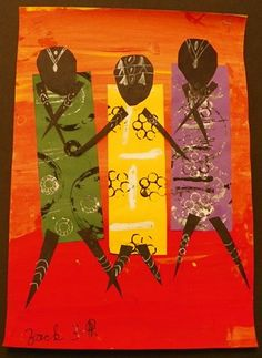 TingaTinga People/African Art Gr 3 - 3rd graders studied the art of Edward Tingatinga and the 20th Century style of art he is credited with starting, called TingaTinga.  -- Could use this with 2nd grade - African art.