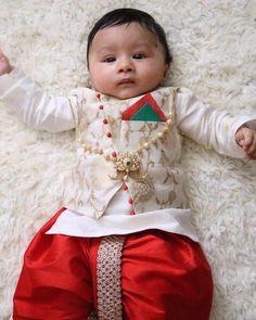 Clients diaries The cute lil one in our malai silk kurta banarsi bandi with a reddish silk dhoti Baby Boy Ethnic Wear, Kids Ethnic Wear, Baby Boy Dress, Baby Boy Outfits, Kids Outfits, Kids Dress Wear, Dresses Kids Girl, Baby Dresses, Wedding Dresses