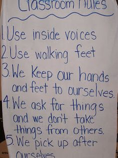 Learning and Teaching With Preschoolers: Classroom Rules